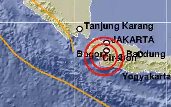 Gempa 5 Magnitudo Guncang Sukabumi Jawa Barat