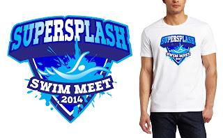 T-shirt logo design creative ideas: SWIMMING EVENT T SHIRT