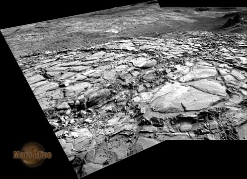 Sol 1148 Curiosity Right Navcam Pahrump Hills