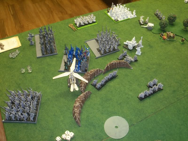 Warhammer Battle for the Treasure Horde - Warriors of Chaos, High Elves, and Dwarfs