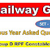 Railway GK Important Bits for ALP Group D Exams
