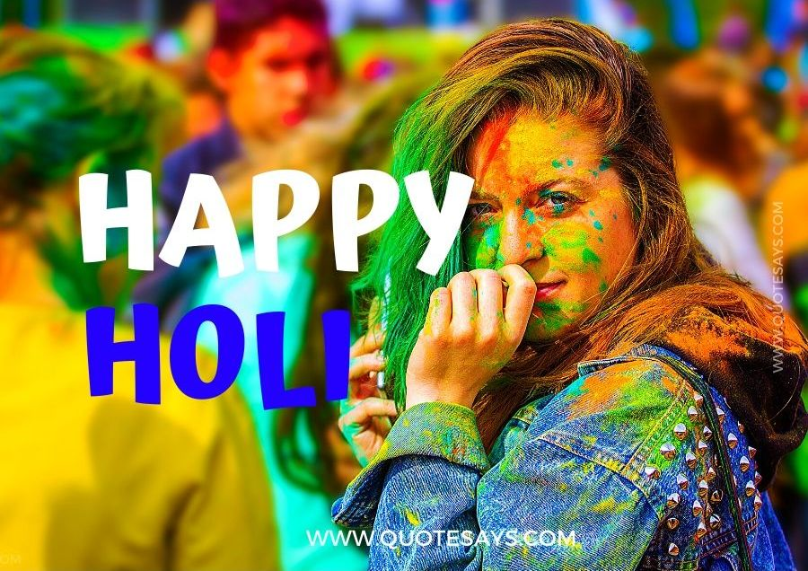 Happy Holi Colorful Girl