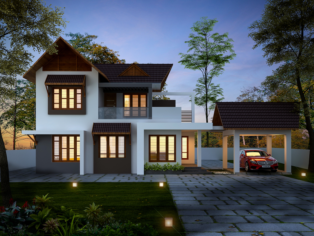 32 lakhs Traditional style residence Forms4 Cochin