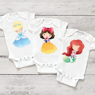 Disney Princess baby onsies