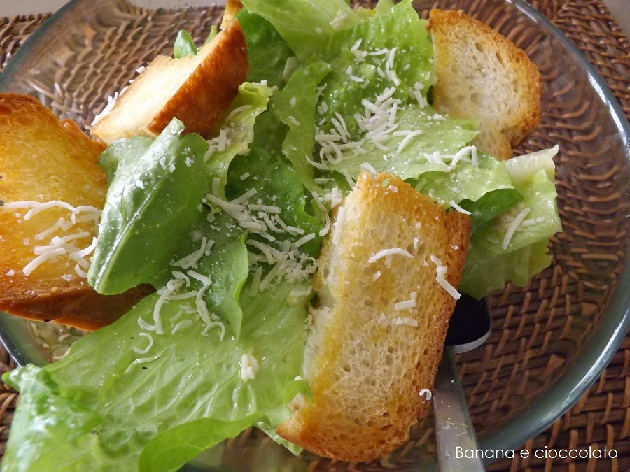 caesar salad, cucina americana, banana e cioccolato