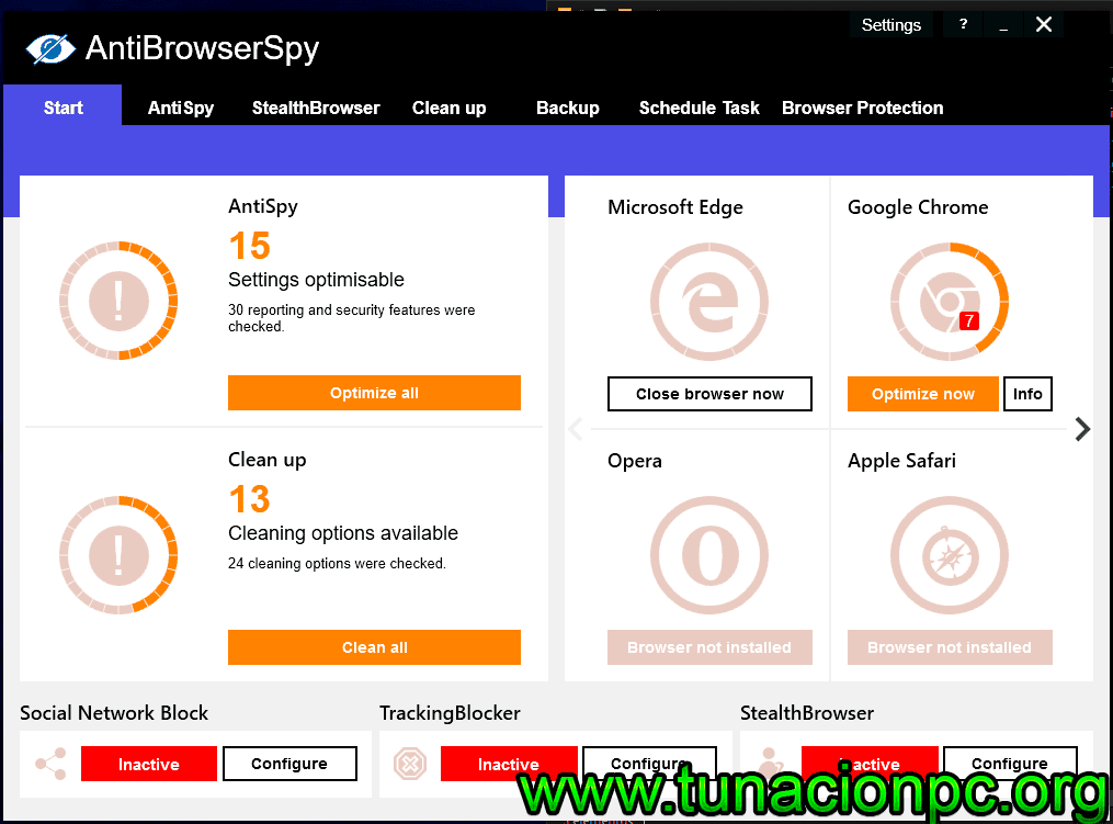 AntiBrowserSpy Pro Final, navega de forma privada