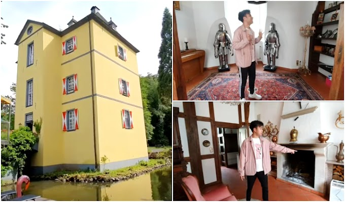 Penampakan Kastil Vidi Aldiano di Jerman Ada Danau Mini dan Kandang Kuda Sangat Indah