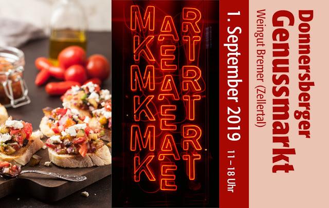 Der 1. Donnersberger Genussmarkt wird am 1. September im Weingut Bremer im Zellertal veranstaltet.