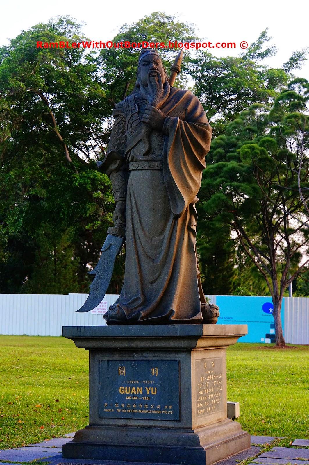 Guan Yu  statue, Chinese Garden, Singapore