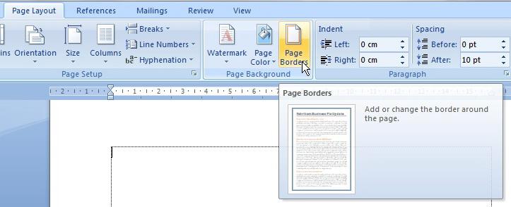 Gambar Klik menu page border