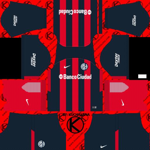 San Lorenzo 2018 Kit - Dream League Soccer Kits