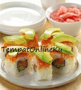 sushi salmon lezat mantap