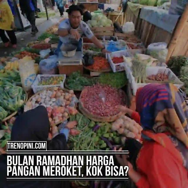 "Bulan Ramadhan atau bulan puasa, tidak lepas dari dampak kenaikan harga pangan. Seiring dengan permintaan yang tinggi sejumlah harga pangan menjadi naik. Ketua Umum Ikatan Pedagang Pasar Indonesia (IKAPPI) Abdullah Mansuri yang mengatakan, ""Beberapa komoditas ada yang (naik) sampai 50%. Daging ayam naik dari Rp 39 ribu ke Rp 45 ribu, itu yang terlihat sangat mencolok (kenaikannya),"" ujarnya."