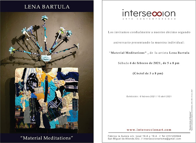 solo exhibition featuring  textile art by Lena Bartula