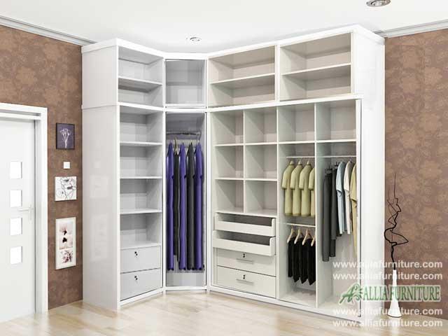 lemari pakaian minimalis sudut model xeon