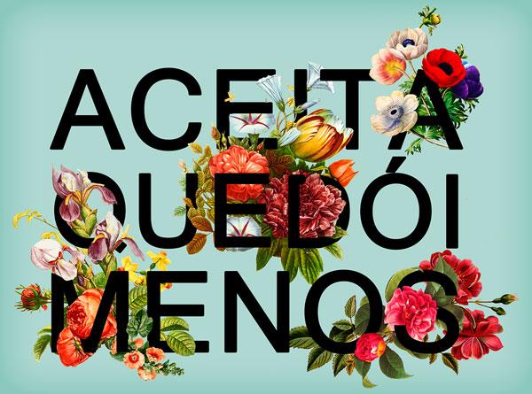 kombinasi apik desain typografi bunga