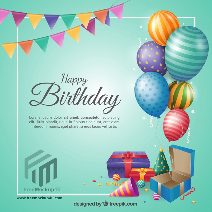 Birthday Background Flat Design