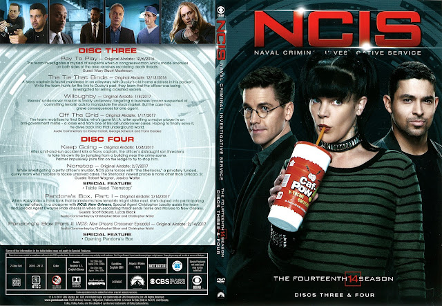 NCIS Season 14 Discs 3 & 4 DVD Cover