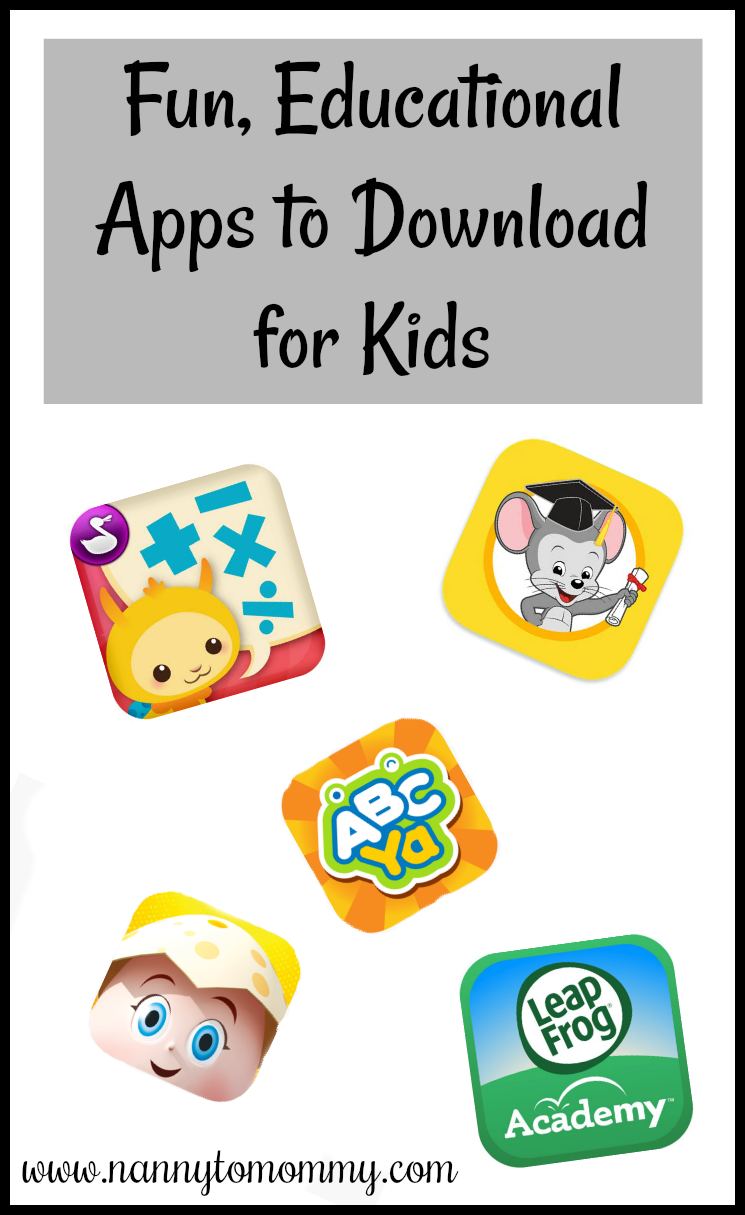 Fun, Educational Apps to Download for Kids