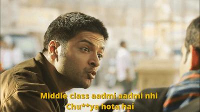Middle-class aadmi aadmi nhi chu**ya hota hai | Mirzapur Meme Templates
