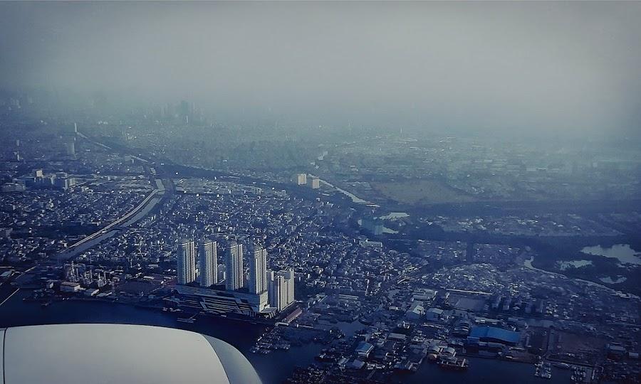 Kota — foto dari pesawat, Ambon-Jakarta 8 November 2019