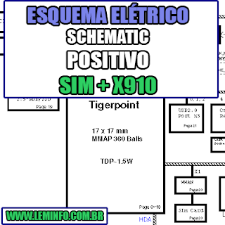 Esquema Elétrico Manual de Serviço Notebook Laptop Placa Mãe Positivo Sim + X910 Schematic Service Manual Diagram Laptop Motherboard Positivo Sim + X910 Esquematico Manual de Servicio Diagrama Electrico Portátil Placa Madre Positivo Sim + X910