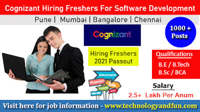Cognizant - Digital Learning Off Campus Recruitment    Software Engineering Jobs