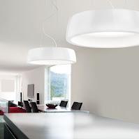 Dining room white pendant lamps with modern lighting design