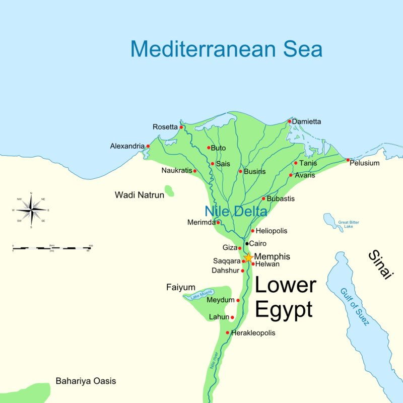 Dispatches From Turtle Island: A Map Of Ancient Lower Egypt