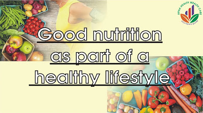 (Good nutrition as part of a healthy lifestyle)