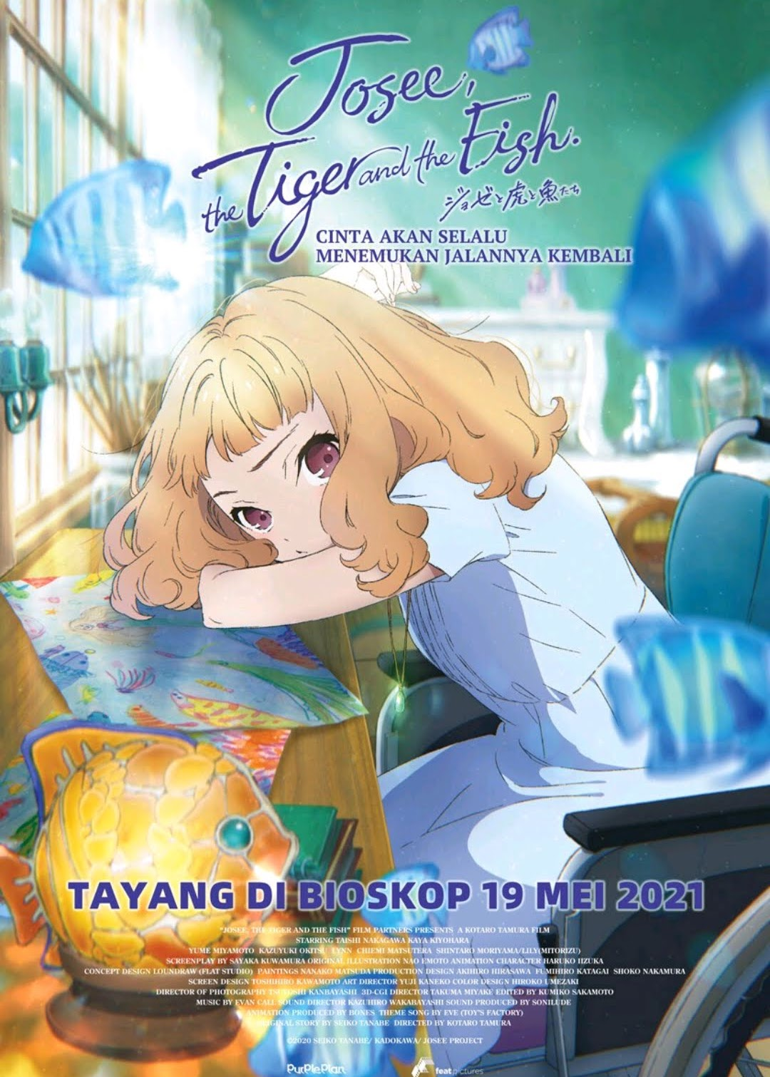 Josee the Tiger and the Fish subtitle Indonesia, review anime Josee the Tiger and the fish