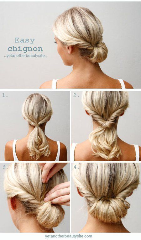 Easy Chignon Easy Women's DIY Hairstyles