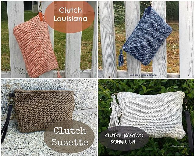 Con hilos, lanas y botones: bolsos de mano de ganchillo (patrones gratis)
