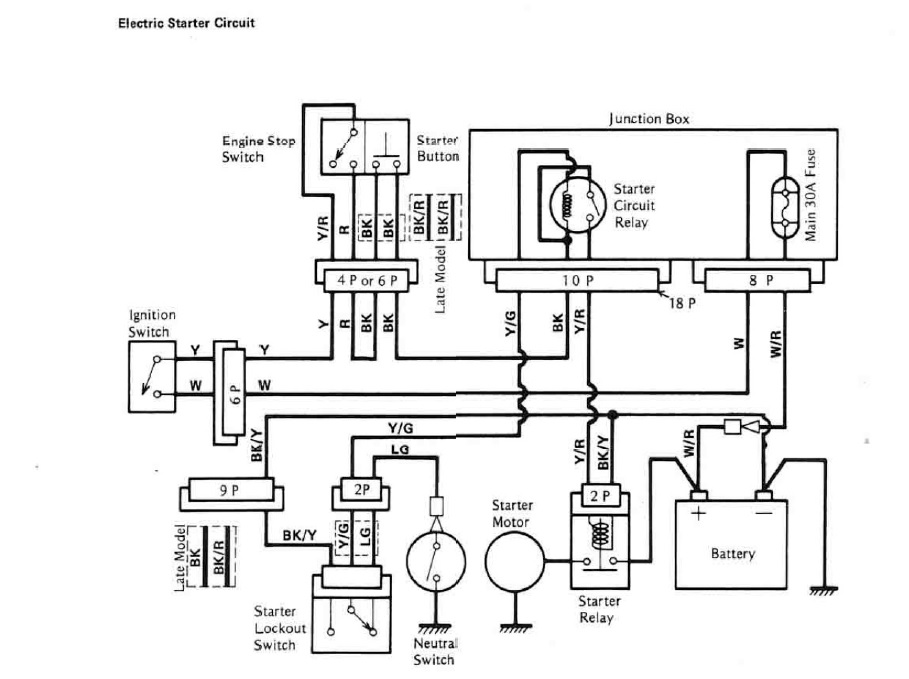 Electric Starter Wiring Diagram