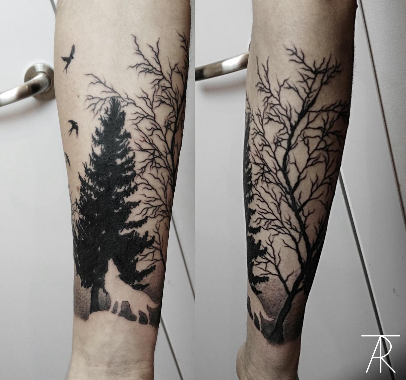 Tatuajes En El Antebrazo Bosque Frasesparatatuajesclub