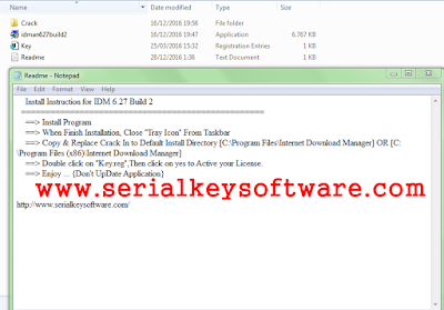 Serial Key Internet Download Manager (IDM) 6.27 Terbaru 2017 Full Version