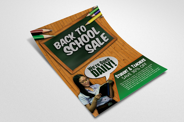 Free Back to School Sale Flyer Design Template