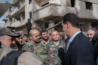الرئيس بشار الأسد يزور مواقع الجيش اليوم الأحد فى منطقة الغوطة الشرقية