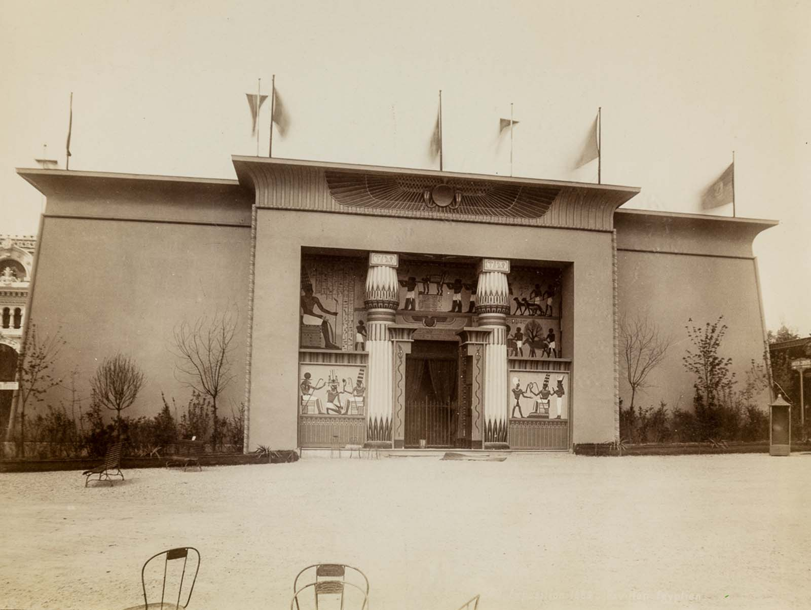 The exterior of the Egyptian pavilion.