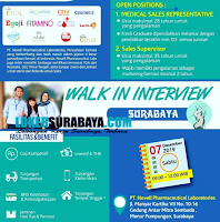 Walk In Interview di PT. Novell Pharmaceutical Laboratories Surabaya November 2019