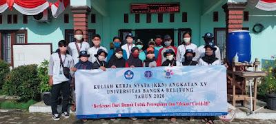 Tingkatkan kesadaran masyarakat, Tim KKN-XV UBB Bersama Pemdes ibul lakukan Gotong Royong bersama-wisataibul.com