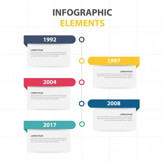 Infographic template with yearly info Free Vector