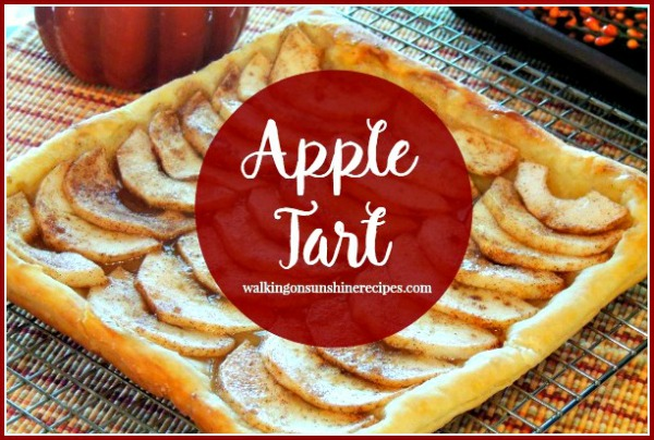 Puff Pastry Apple Tart on bakers rack from Walking on Sunshine Recipes.