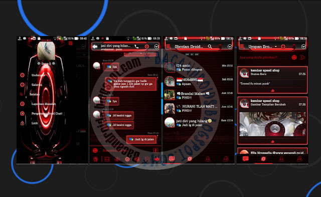 download BBM2 Mod DroidChat Tema Evolution Red 2.13.1.13 New Clone