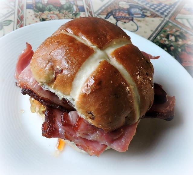 Hot Cross Bacon Baps
