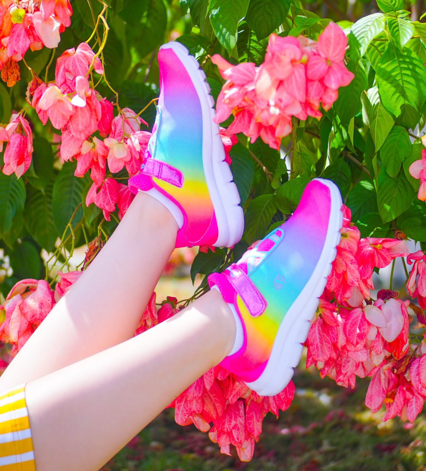 Rainbow Sneakers Outfit