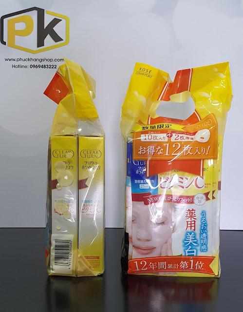 Mặt nạ Kose Q10 Clear Turn White - Hàng nội địa Nhật