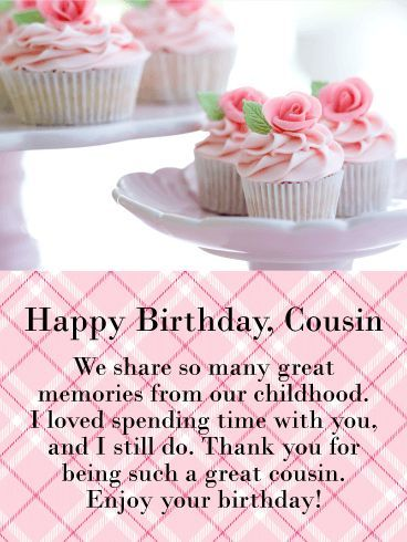 Cousin Happy Birthday Wishes