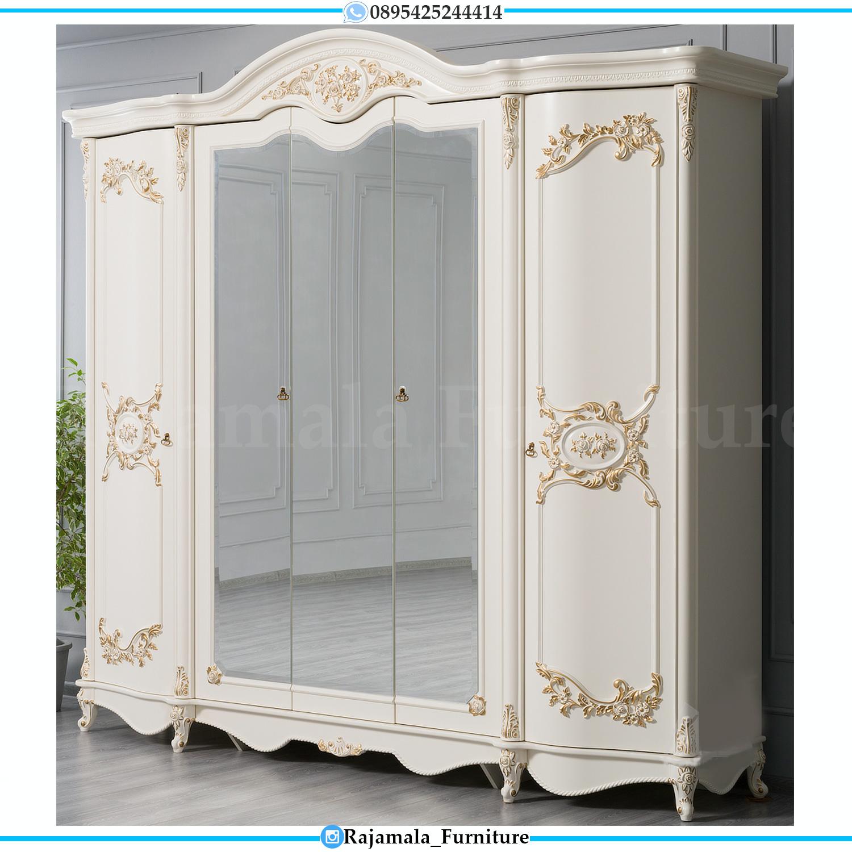 Lemari Pakaian Mewah Ukiran Vitrina Style Luxury Classic Furniture Jepara RM-0171