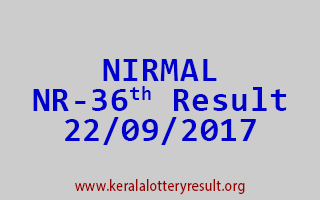 NIRMAL Lottery NR 36 Results 22-9-2017